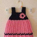 pembe-siyah-orme-elbise