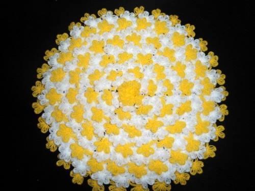 Tığ İşi Yuvarlak Çiçek Lif Yapımı