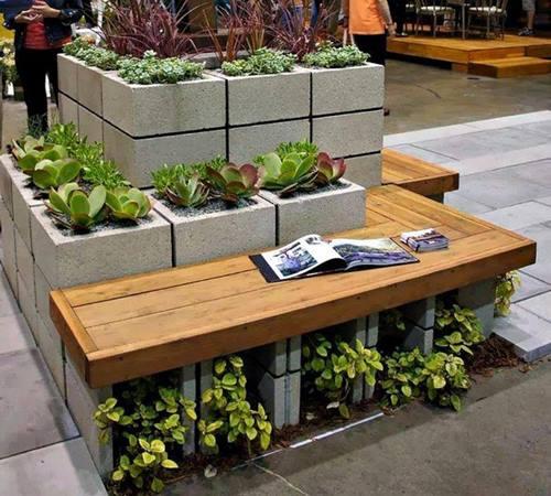 beton-briket-ile-bahcede-saksilar