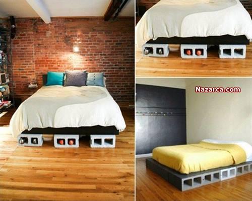 beton-briket-yatak-alti-farkli-dekorasyon