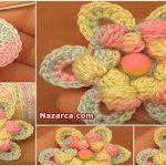 Crochet-Cluster-Stitch-Center-Flower