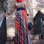 cizgili-uzun-tesettur-elbise-kombinleri