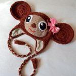 kiz-maymunlu-komik-orgu-bebek-sapka
