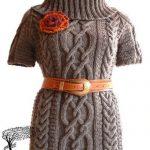 orgu-balikci-yaka-uzun-bayan-elbise-modeli