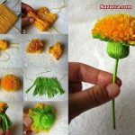 ponpondan-sapli-dekoratif-cicek