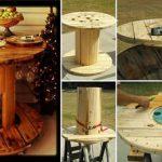 Wire-Spool-Repurposed-Into-A-Wine-Table