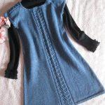 orgu-mavi-kiz-cocuk-elbise-modeli