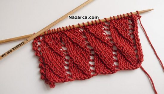 Overlapping-Waves- Lace- Knitting-Pattern