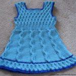 orgu-petekli-mavi-kiz-elbise