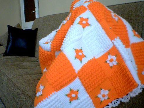 turuncu-beyaz-battaniye-agfan-isi