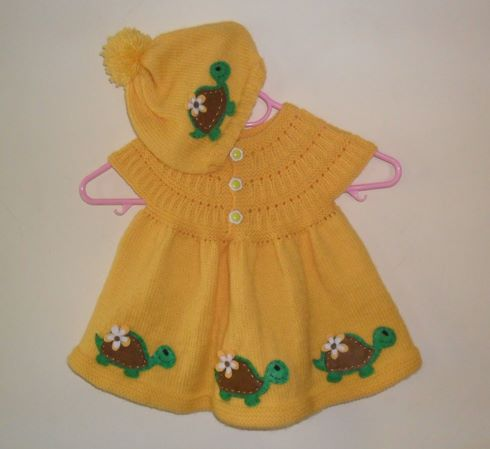 bereli-sari-kaplumbagali-elbise
