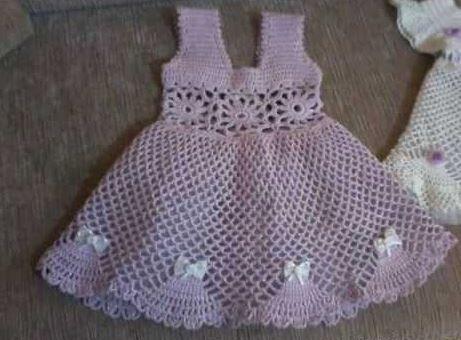 dantel-lila-bebe-elbiseler
