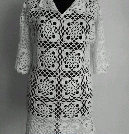 dantel-motifli-yakali-bayan-elbise