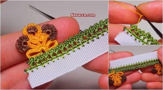 yazma-oyasi-yaprak-cicekli-model