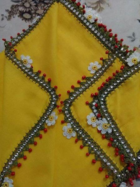 papatyali-boncuklu-sari-yazma-oyasi