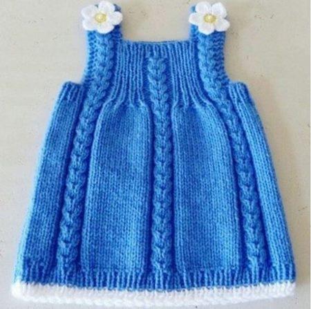 papatyaliaskili-mavi-orgubebek-elbise