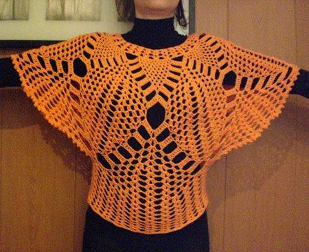 dantel-isleme-turuncu-yarasa-bluz