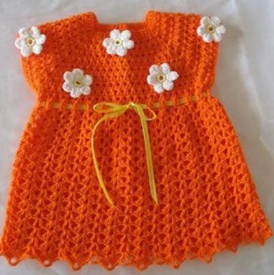 papatyali-turuncu-tig-bebek-elbise-2