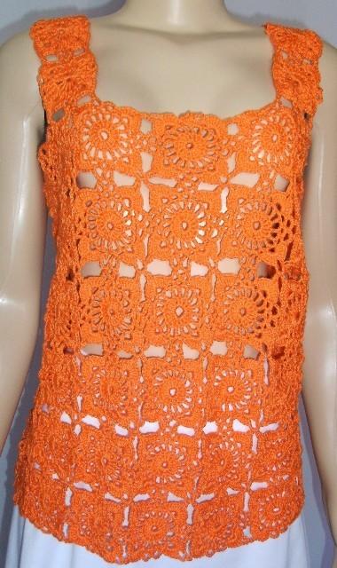 turuncu-dantel-kare-motifli-dantel-yazlik-bluz