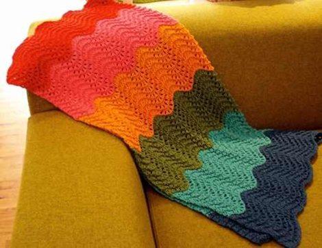 zigzag-modelli-turuncu-battaniye