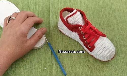 orgu-spor-ayakkabi-gorunumlu-bayan-patik-yapimi