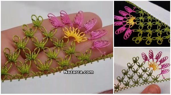 İğne Oyası Sinek Kanatlı Çiçek Modeli Yapılışı Videolu Anlatımlı