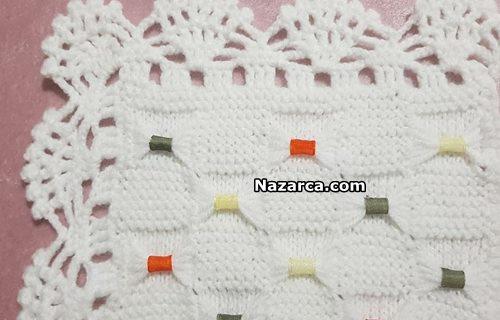 kurdeleli-renkli-beyaz-battaniye