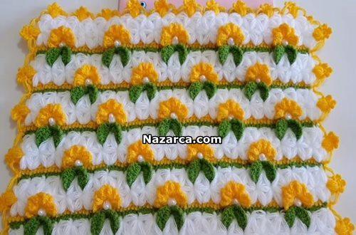 sari-cicekli-incili-kare-lif-modeli-tarifi