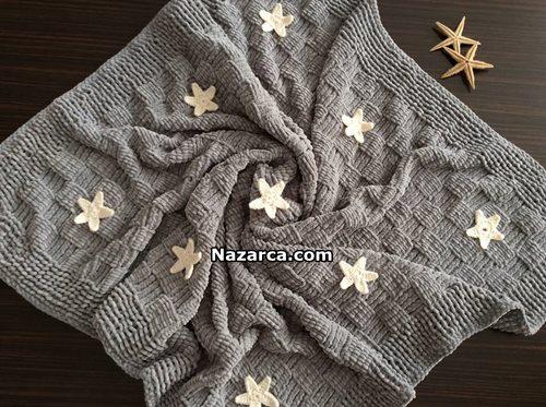 yildizli-kadife-bebek-battaniye-el-orgusu