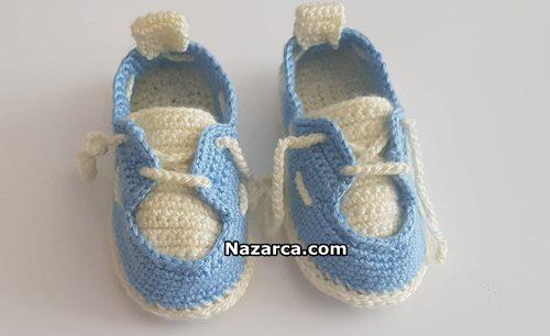 Pembe Bebek Ayakkabıları-Tığ işi Bebek Ayakkabısı | 306x500