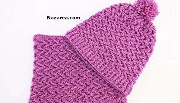 Crochet-hat-and-scarf- very- easy