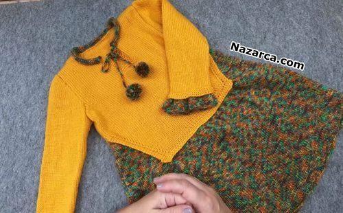 etekli-kazakli-birlesik-modern-kiz-cocuk-elbise