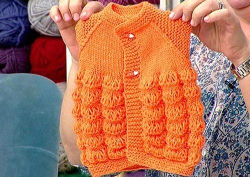 turuncu-dokumlu-mandalina-bebek-yelek