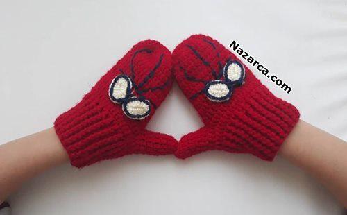 Häkeln-Sie-Zopf-Spiderman-Kinderhandschuh