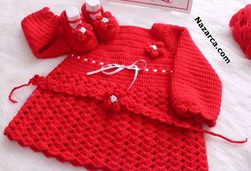 kirmizi-yakadan-baslanan-patikli-bebek-elbise-tarifi