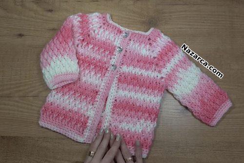 Unisex-Crochet- Jacket- Bra-baby