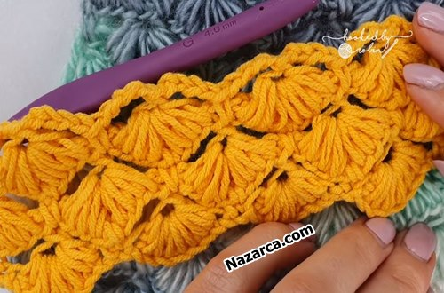 Crochet -Puff -Shell -Star- Stitch