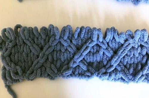 Diamond -Knitting-blanket