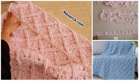 EZ-Diamond-Lattice- Blanket-alize-puffy-battaniye