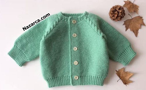 How-to knit-an -easy- baby -cardigan