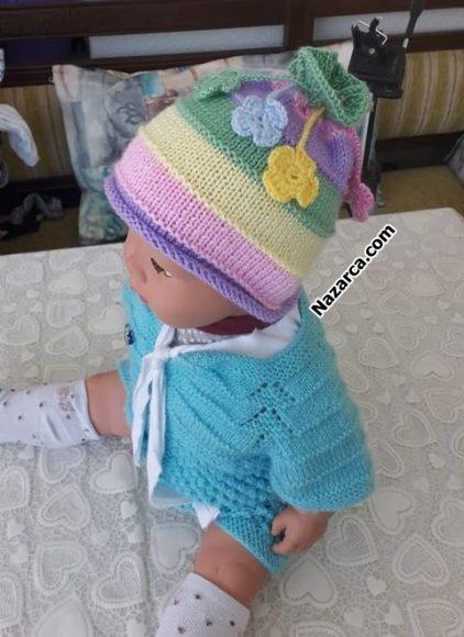 kabarik-renk-gecisli-bebek-sapka-orme