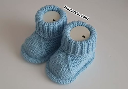 Knitting -Very- nice- Baby- Booties