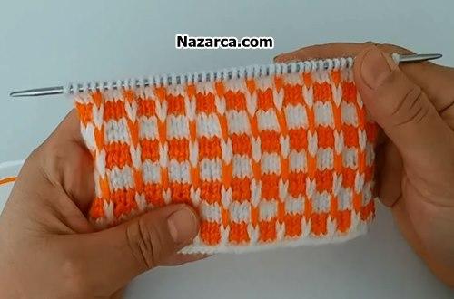turuncu-beyaz-iki-renkli-orgu-videosu