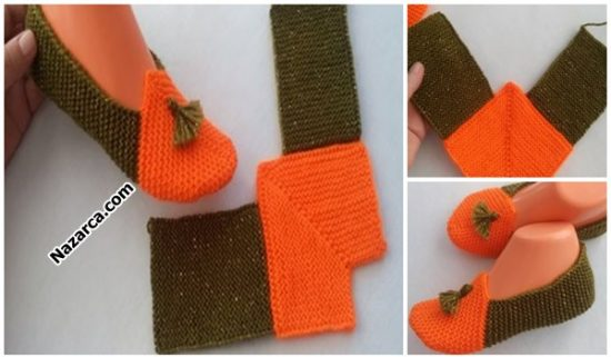 turuncu-yesil-puskullu-orgu-bayan-patik