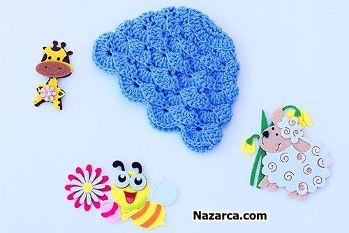 Crochet baby knit -beanie