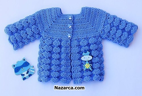 Crochet-baby-knit-cardigan