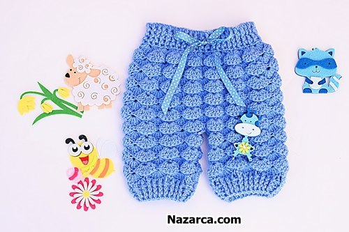 Crochet baby knit pants