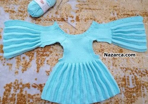 pileli-mavi-yakali-akordiyon-elbise