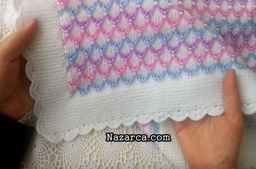 renkli-oval-ilmekli-bebek-battaniye-modeli