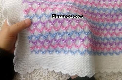 renkli-petekli-oval-ilmekli-battaniye-ormek